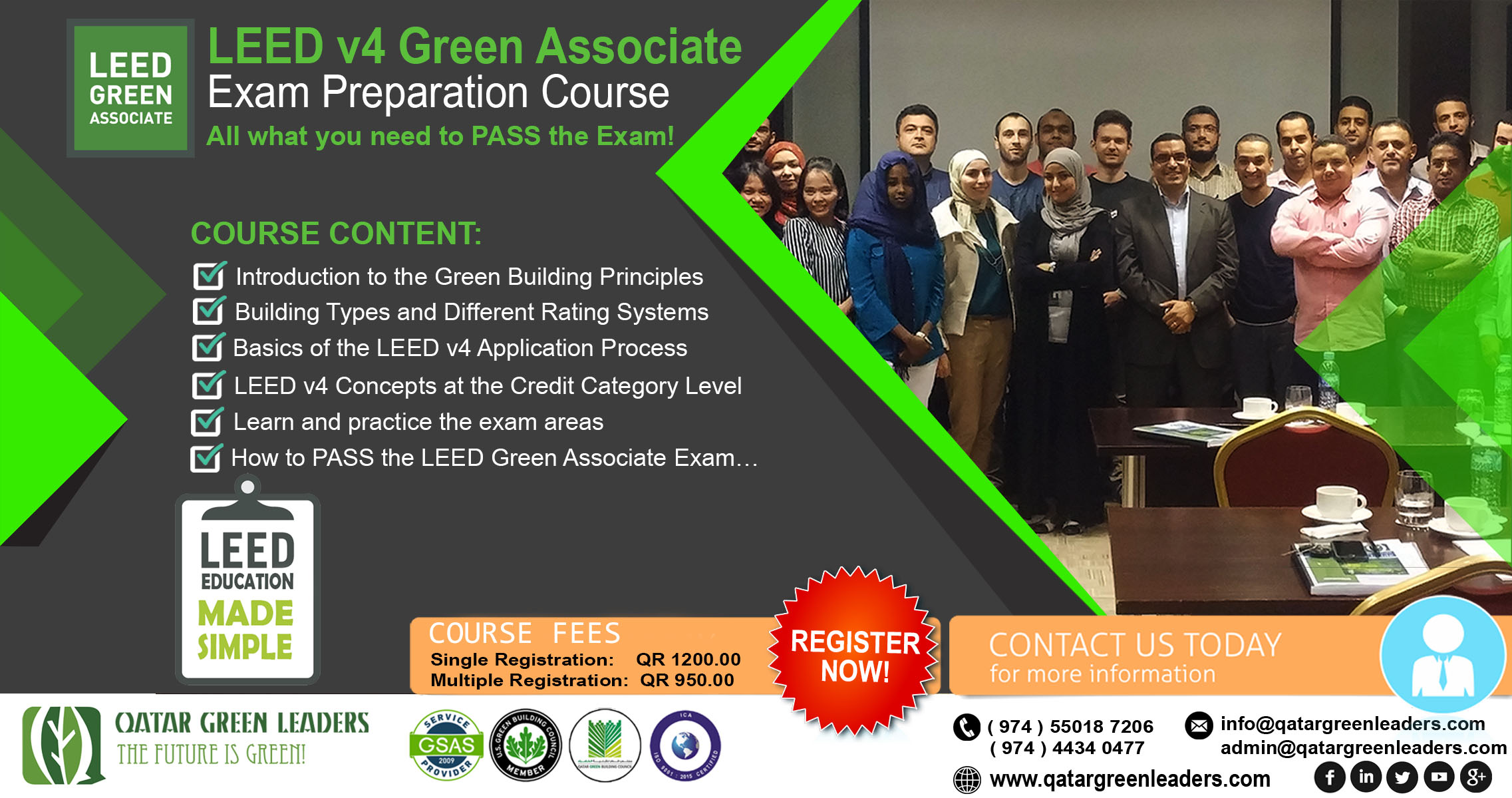Leed courses qatar green leaders xflitez Images