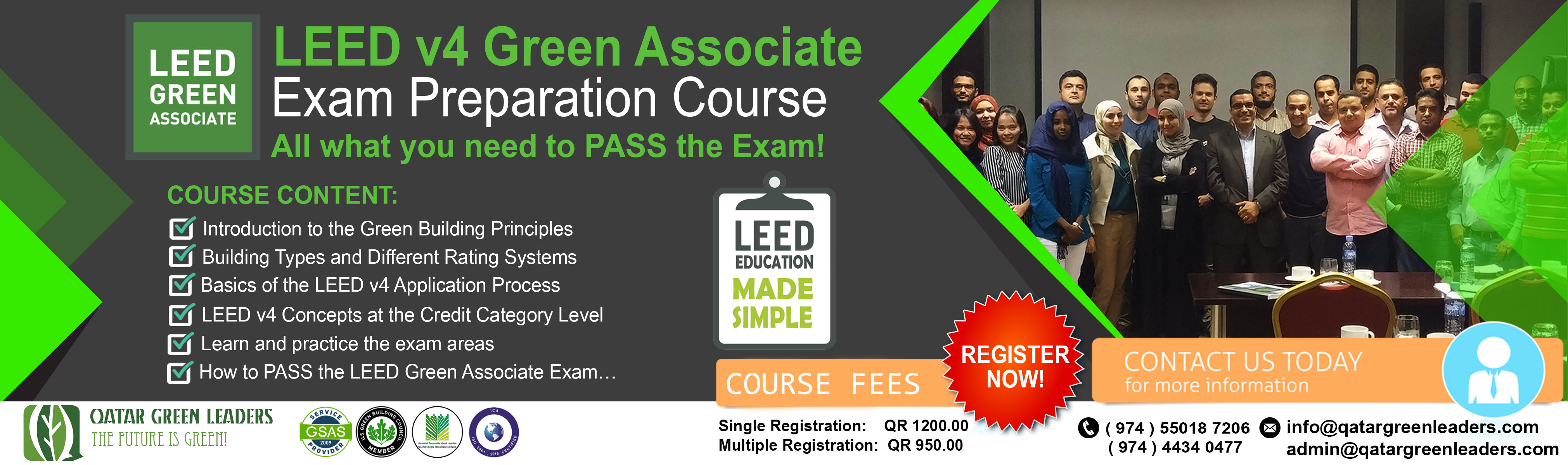 Leed Courses Qatar Green Leaders